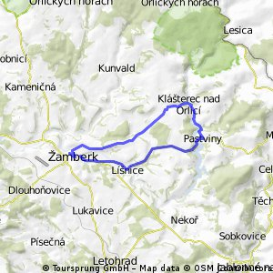 Žamberk - Pastviny - Žamberk