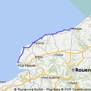 Day 9: From Le Havre to Dieppe