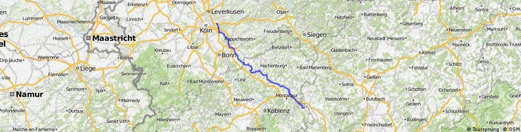 Köln-Brück nach Diez/Lahn