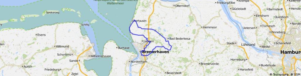 Rennrad Route 96 Kilometer