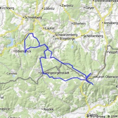 Erzgebirge/Fichtelberg/Klinovec in CSSR/Variante
