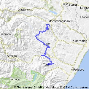 Itinerario dei Calanchi 3 - Scalo di Ferrandina - Tursi