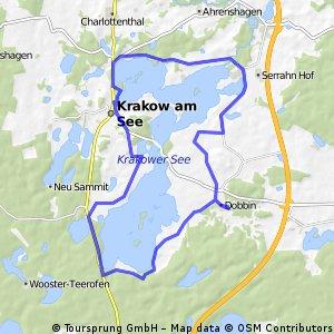 Von Dobbin um den Krakower See 32km