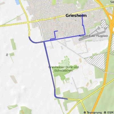 Radstrecke Sprint Short-Track Triathlon
