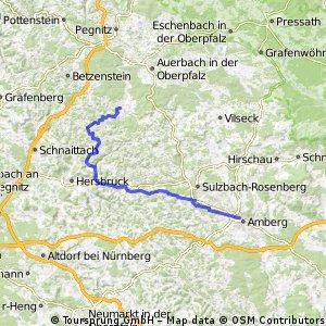 Von Neuhaus a.d.Pegnitz nach Amberg
