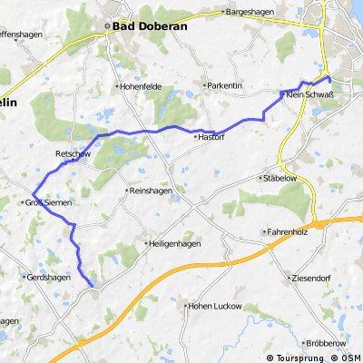 Radtour von Rostock-Westfriedhof nach Satow