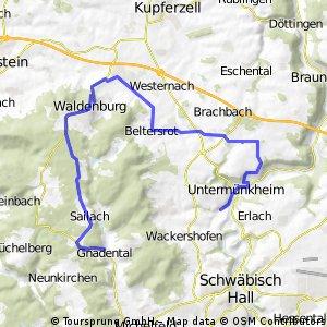 Gnadental nach Obermünkheim