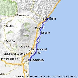 Catania Taormina Bikemap Your bike routes