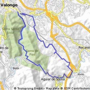 Valongo 25-1-2015 Contornando Serra de Pias