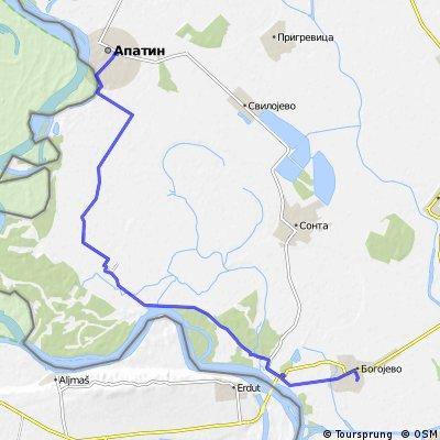 Rute Apatin-Bogojevo