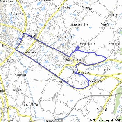 sanklang to sankamphaeng test route#1