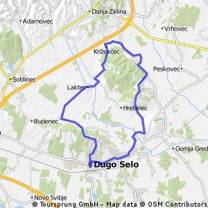 Map 11 — Dugo Selo – Laktec – Križevčec – Štakorovec – Brckovljani (blue route)