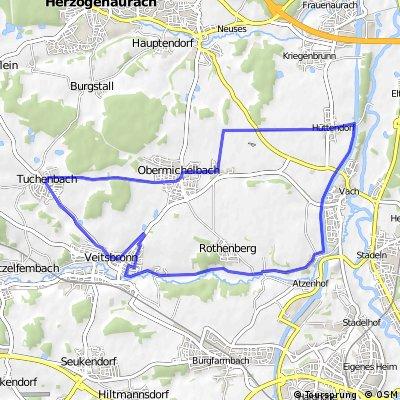 MTB-Veitsbronn-Kanal-23km