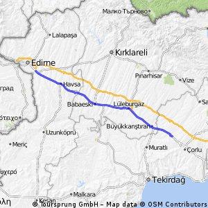 23. Edirne - Ulas - 106km
