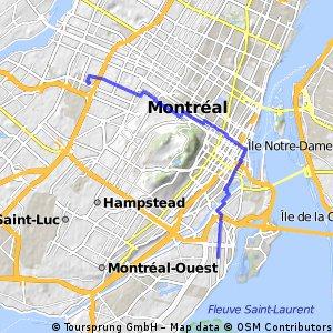 Winter biking trough Montreal (retour)