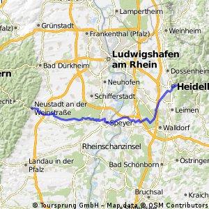 Neckar Rhein und Reben