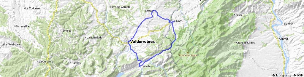 Arnes - Cretes - Vall-de-Roures - Beseit - Arnes