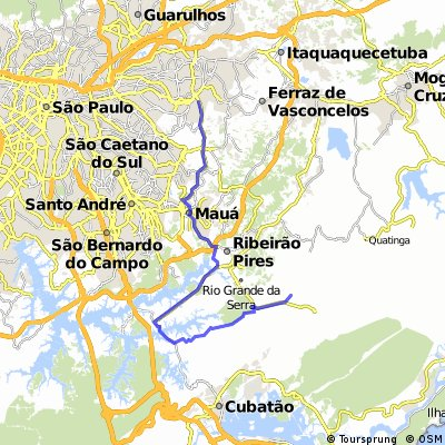 CPTM Dom Bosco até Bar do Flávio(Paranapiacaba), via Gasoduto