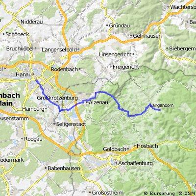 Hanau Hbf nach Sommerkahl