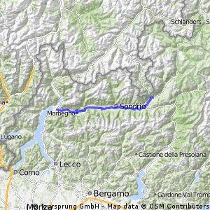 Italy Lake Como to Tirano via Bike Track