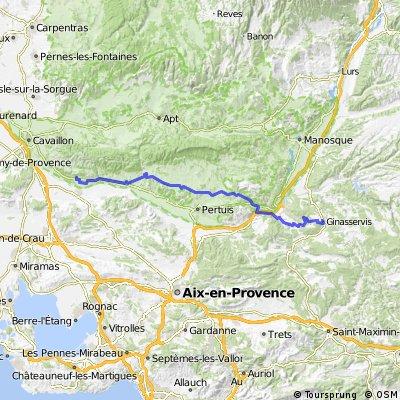 21)  Mérindol - Génasservis 72 km
