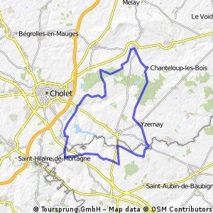 St Pierre,Yzernay,Vezins,Toutlemonde,Mazieres