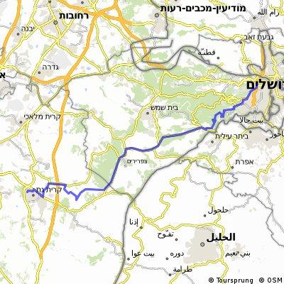 von Jerusalem nach Kiryat Gat