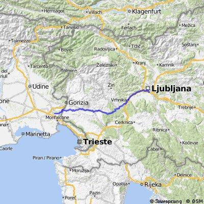 6. Ljubljana - Polazzo - 104km