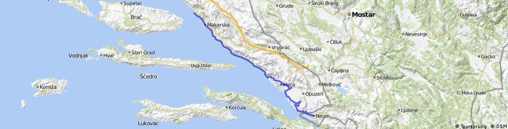 12B. Baška Voda - Neum - 100km