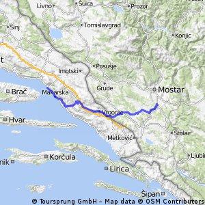 12. Baška Voda - Buna - 103km