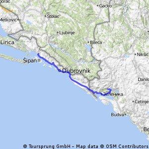 14. Slano - Morinj - 98km