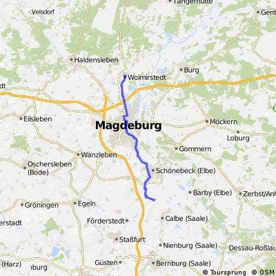 1. Mai 2015: Wollmirstedt - Magdeburg - Kleinmühlingen. Friedensradfahrt 2015 1. - 8.5. Magdeburg - Berlin
