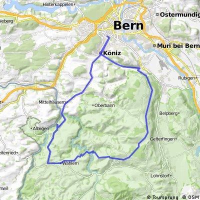 Bern-Schwarzenburg-Brügglen-Gschneit-Köniztäli-Bern