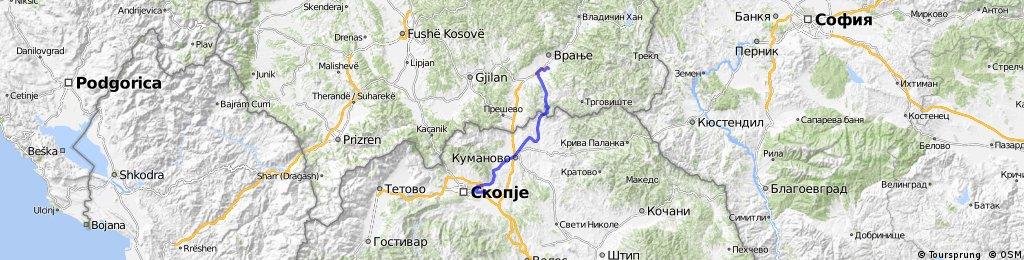 19. Skopje - Kupinince - 98km
