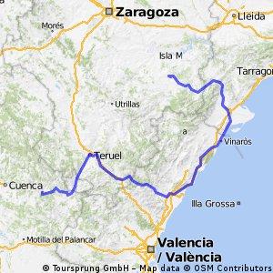 Via Verde  Alcañiz - Tortosa vervolg naar teruel