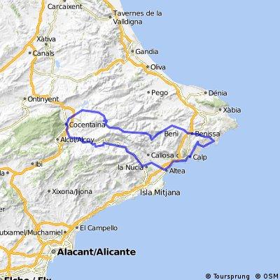 Moraira-Calp-Altea-Guadalest-Cocentania-Tarbena-Xalo-Moraira