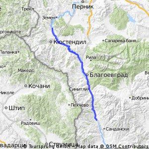 21. Razhdavitsa - Strumyani - 117km