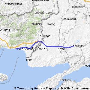 25. Alexandroupoli - Malkara - 103km