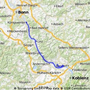 Mittelrheintal Radtour