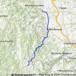 Jakobsweg 14. Etappe Boen sur Lignon - Craponne sur Arzon