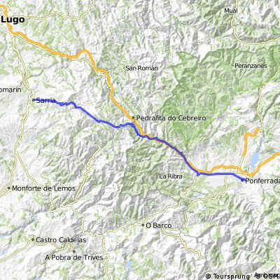Jakobsweg 37. Etappe Ponferrada - Sarria