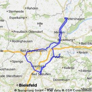 Längs von Werrre und Weser nach Petershagen