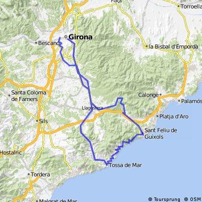 Cicloturista  bomberos 2016 Girona - Tossa de Mar- Sant Feliu de Guixols- Romenya- Girona