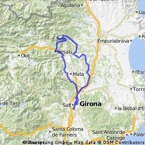 Cicloturista de bomberos 2016 Etapa Girona -Mare de déu del Mont