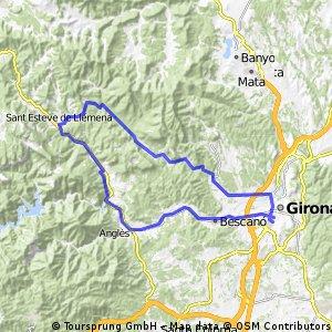 Girona - Les Planes d´Hostoles -Girona Última etapa cicloturista Bomberos 2016