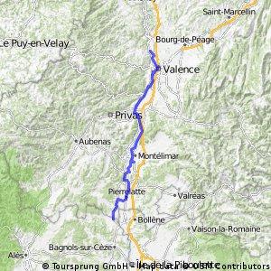 La Roche-De-Glun til Pont St-Esperit