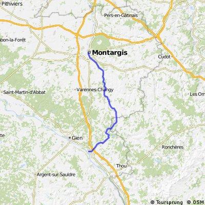 Briare nach Montargis