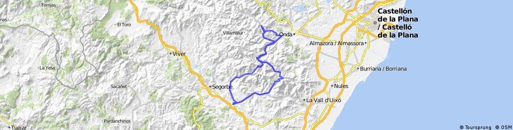 Soneja-Almedijar-Artesa-PuertoAyódar-Aín-Eslida-Chóvar-Soneja
