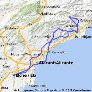 Elche - Finestrat - Guadalet- Amadoiro
