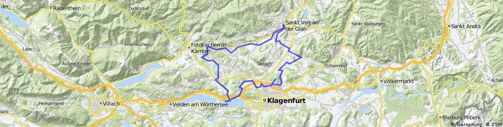 Krupendorf - St Veit -  St Martin - Maltschahcher See-Krumpendorf